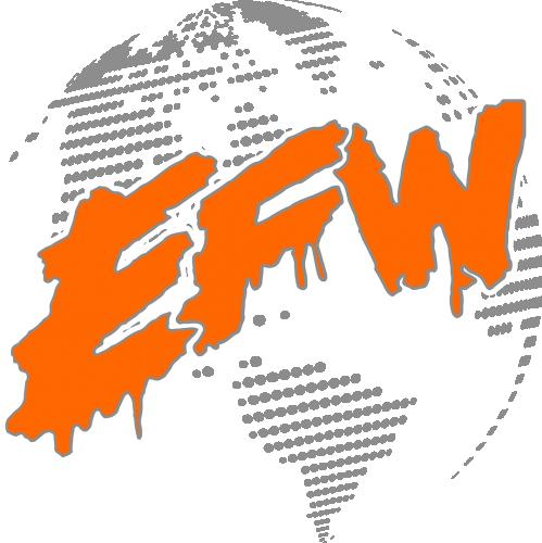 EFW World Logo Safety Orange Small